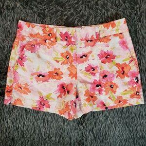 Ann Taylor LOFT Floral Linen Blend Shorts